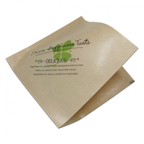 Accept Custom Food Grade Kraft Paper Bag Printed Greaseproof Baking Take Away Paper Bag For Barbecue