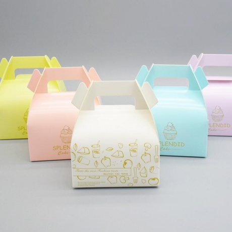 Customised Cardboard Paper Weeding Cake Packaging Box With Handle