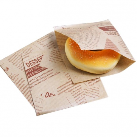 Customize Printed Recycle Greaseproof Hamburger Wax Paper Hamburger Paper Bag