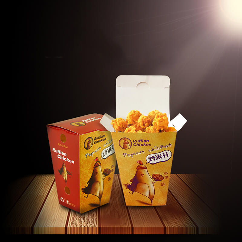 Customized Disposable Cheap Popcorn Chicken Container With Free Sample