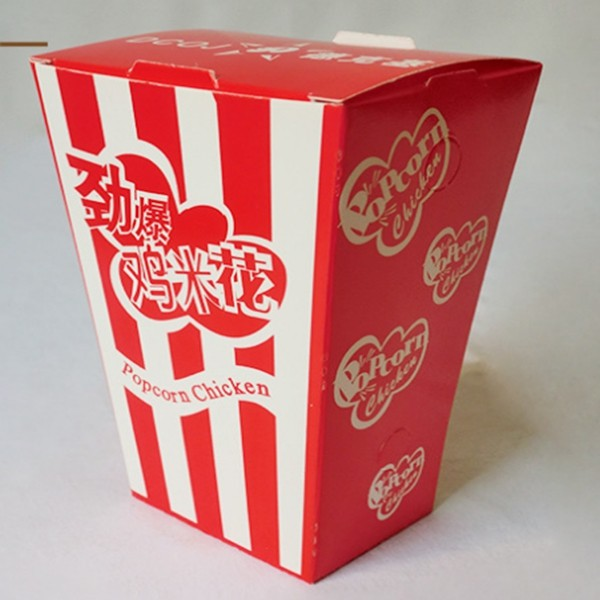 Customized Disposable Food Packaging Container For Popcorn Chicken Paper Boxes Wholesale
