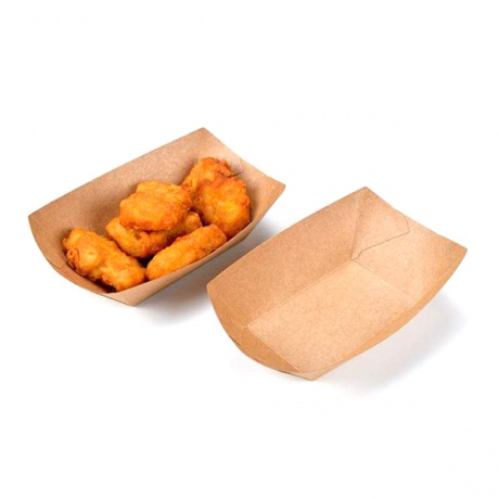 Customized Chicken Boat Shape Packing Box With Logo Pattern