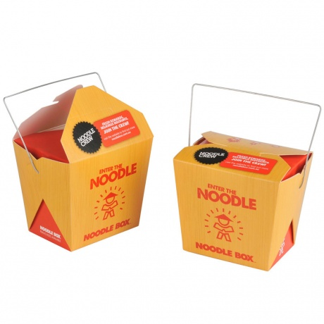 Customized Disposable Paper Take Away Noodle Box With Nandle