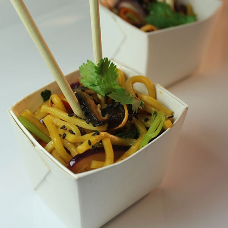 Food Safe Custom Noodle Express Paper Take Away Noodle Box