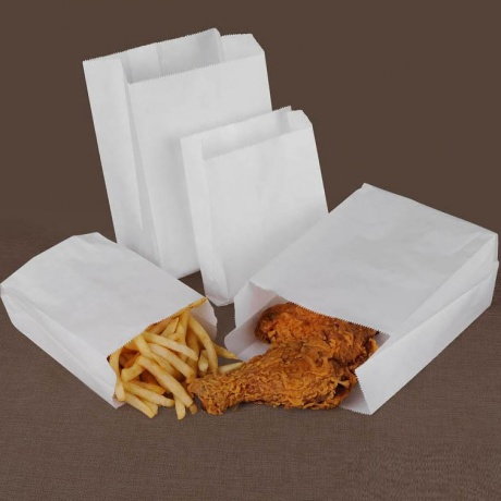 Customized Greaseproof Snack Takeaway Food Packaging Paper Bags
