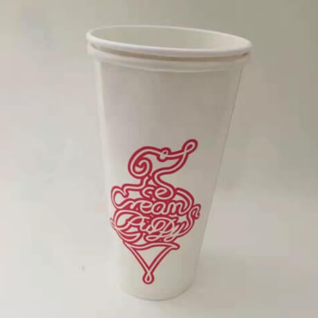 Single Wall Custom Logo Printed Party Tableware 9oz 10oz 7oz 12oz Disposable Coffee Paper Cup