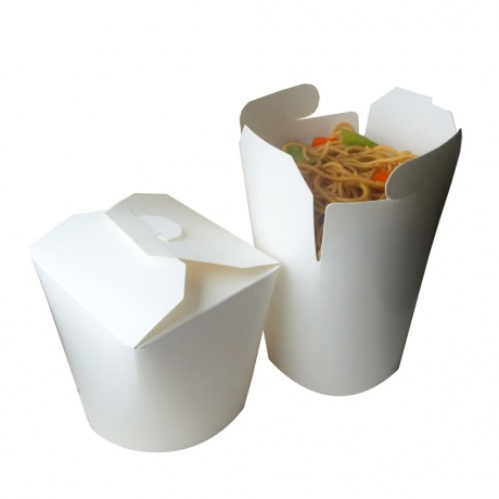 Customized Takeaway Round Bottom Paper Noodle Box