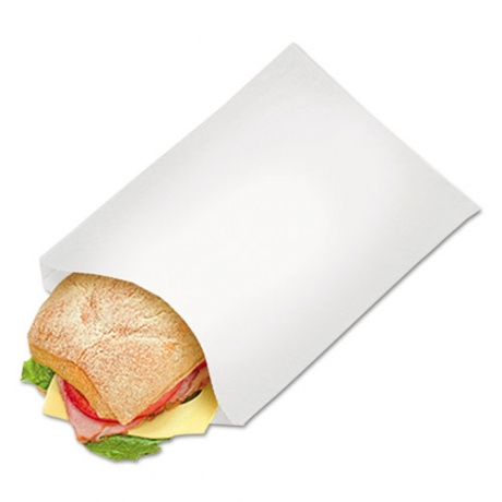Customized Square Bottom Food White Brown Kraft Greaseproof Paper Takeaway SOS Lunch Bags