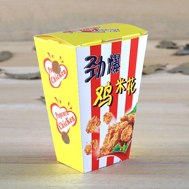 Custom Print Good Price Food Grade Container Popcorn Chicken Packaging Box