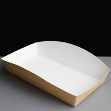 Kraft Custom Fast Food Printed Boat Belong To Paper Tray