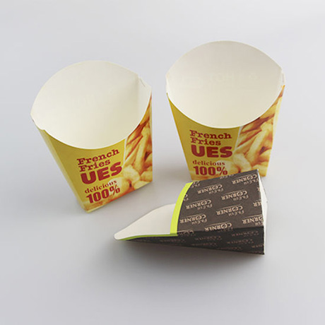 Customized French Fries Chip Paper Cups Disposable Chips Paper Container For Fries