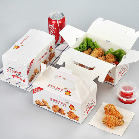 Customized Fast Food Packaging Take Out Disposable Box