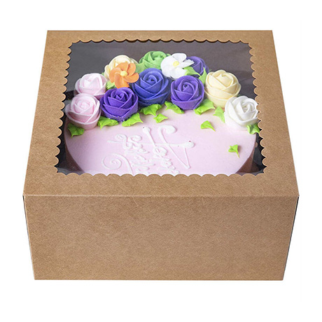 Different Design Direct Factory Custom Clear Window Box For Birthday Paper Cake Box