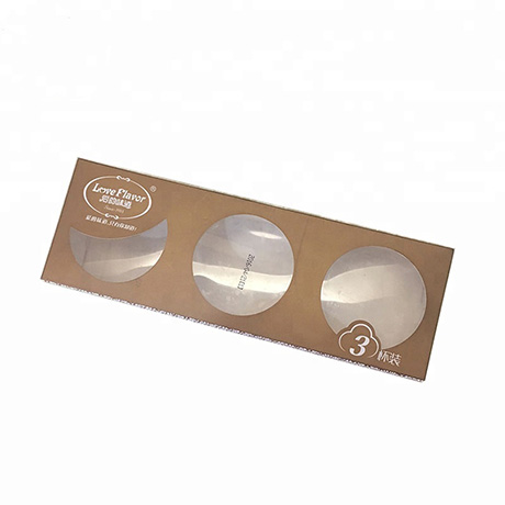 Customized 3 Cups Of Ice Cream Paper Packaging Cardboard Box With Window