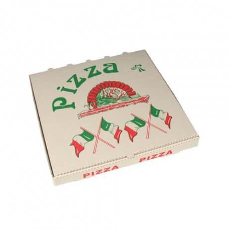 Custom Logo Printed Pizza Corrugated Paper Boxes For Packaging