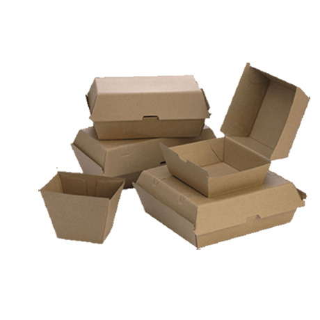 Customized Design Cardboard Paper Double Burger Box