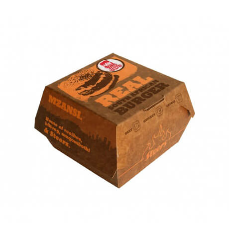 Custom Disposable Food Grade Hamburger Packaging Paper Burger Box