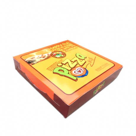 Custom Yellow Color Printing Corrugated Pizza Box