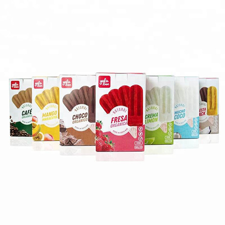Custom Design Color Printed Flat Pack Diecut Ice Cream Packaging Box