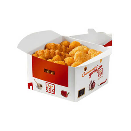 Custom Food Paper Packaging Fried Chicken Box Takeaway Box