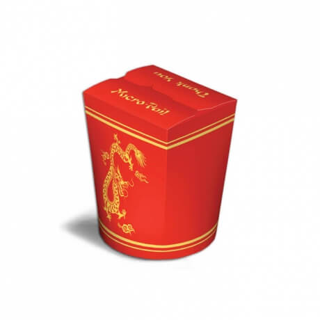 Custom Print Round Fast Food Noodle Box
