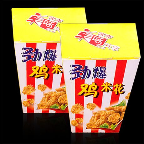 Customized SGS Approved Food Paper Popcorn Chicken Container