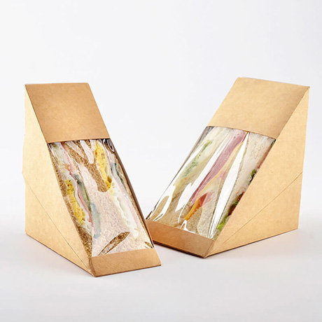 Customized Sandwich Kraft Paper Box With PVC Windows