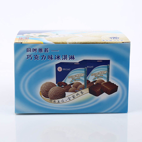 Customized Folded Paper Ice Cream Packaging Box With Printing Your Own Logo