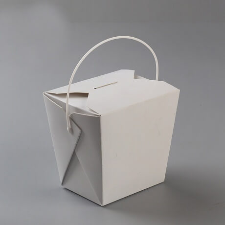 Customized Chinese Take Out Box With Handle