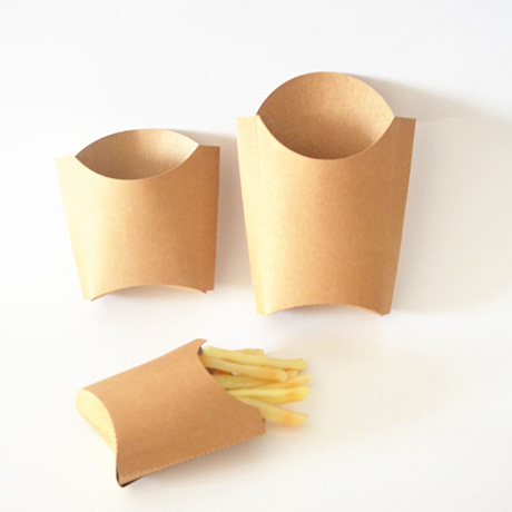 Disposable Custom Printed Paper French Fry Potato Chip Container