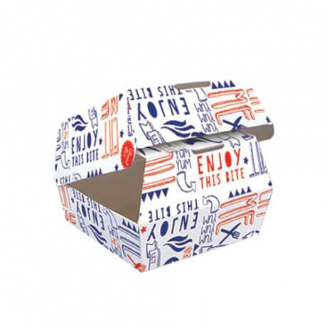 Disposable Foldable Custom Packing Creative Paper Hamburger Burger Box