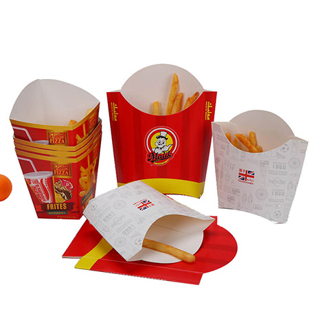 Wholesale Durable Custom Fast Food French Fries Packaging Box