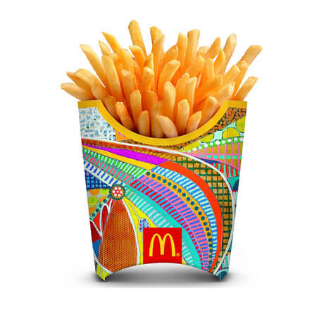 Customized Oem French Fry Container Biodegradable Sanck Food Packaging