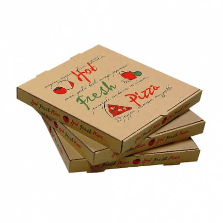 Customized Logo Portable Corrugated Delivery Pizza Box