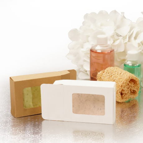 Customized Kraft Paper Cup Cake Box With Clear Plastic Window
