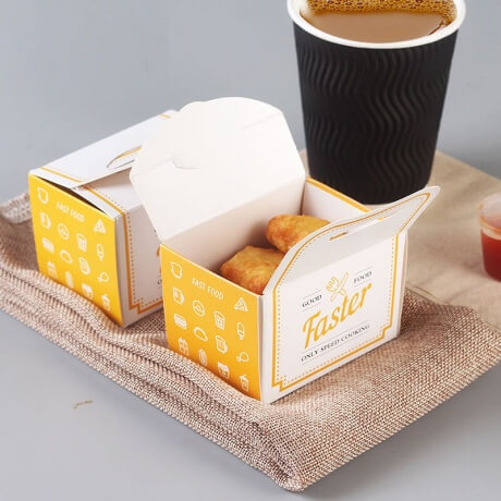 Custom Food Grade Paper Fast Food Packaging Roast Fried Chicken Take Out Boxes
