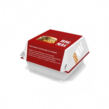 Customized Paper Take Away Box Burger Paper Box