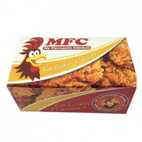 Customized Paper Fried Chicken Box Fast Food And Fried Chicken Take Out Box