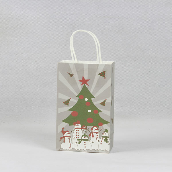 Christmas Tree Exquisite Gift Kraft Paper Bag