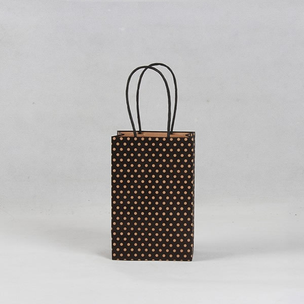Coffee Dot Fashion Cosmetics Kraft Paper Bag Customization