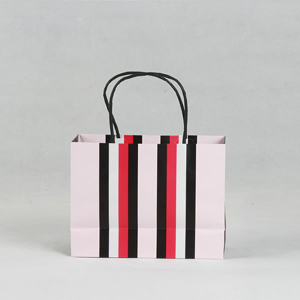 Fashion Color Cosmetics White Card Paper Bag Customization
