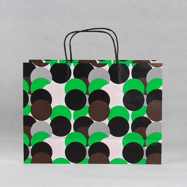 Fashion Polka Dot Cosmetics White Cardboard Paper Bag Customization