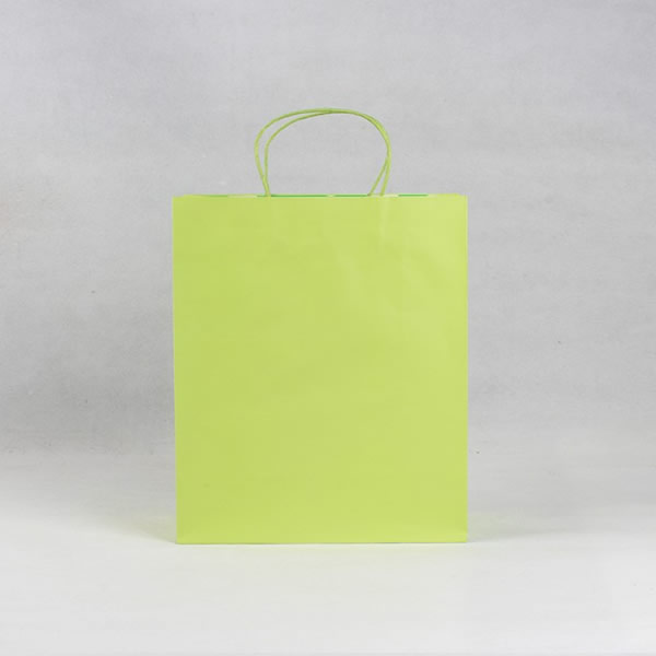 Green Minimalist Cosmetic Kraft Paper Bag Customization