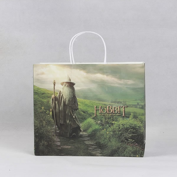 HOBBIT Aesthetic Art Style Cosmetics White Cardboard Paper Bag Customization