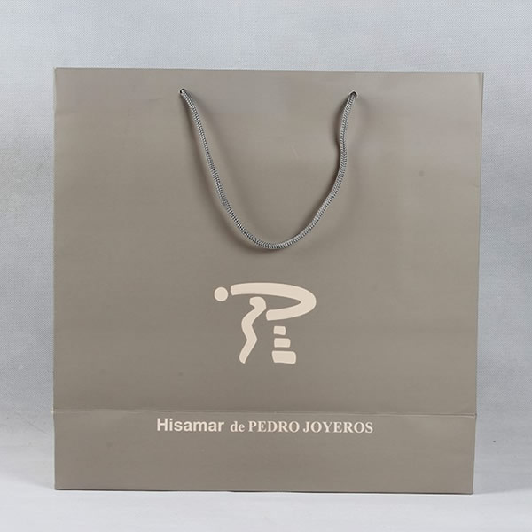 High-grade Bronzing Gift White Card Paper Bag Custom
